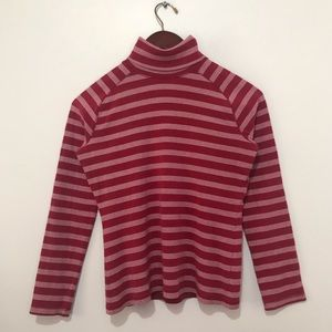 Red And White Striped Turtleneck